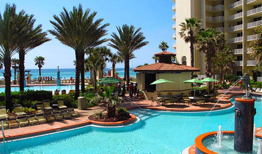 Shores of Panama Condominiums Pool and view