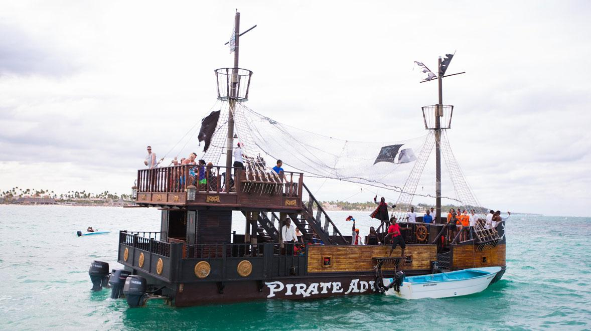 pirate ship as seen on a high school spring break trip to Punta Cana